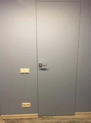 Грунтованные Двери скрытого монтажа С АЛЮМИНИЕВЫМ ПРОФИЛЕМ изображение