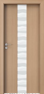 """Porta FOCUS, модель 2.0 стекло """"зебра"""" белое матовое изображение"""