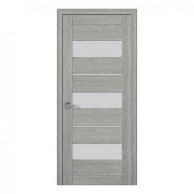 Межкомнатные Двери Лилу Стекло Сатин (ПВХ) изображение