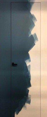 Грунтованные Двери скрытого монтажа без алюминиевого профиля изображение