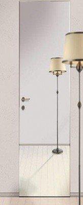 Остекленные Двери Скрытого Монтажа: Зеркало Серебро изображение