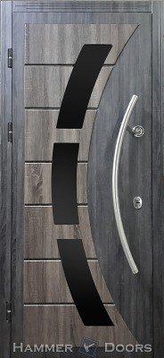 Стальная входная дверь DIAMOND GLASS-4/8 изображение