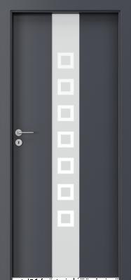 """Porta FOCUS модель 2.0 стекло """"квадратики"""" изображение"""